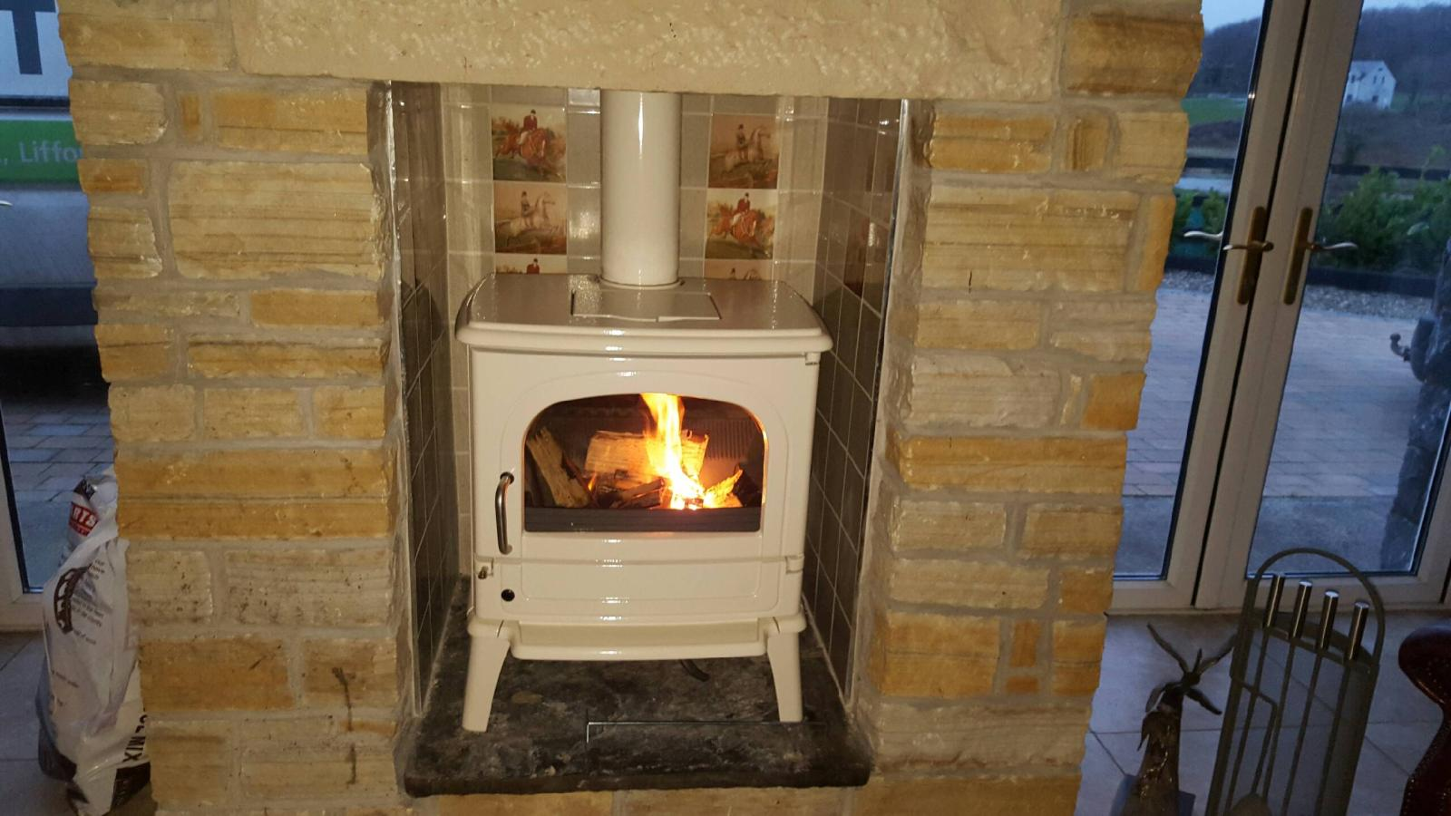 Dru 64 in Ivory Cream 11kw. A beautiful stove with a classic look.