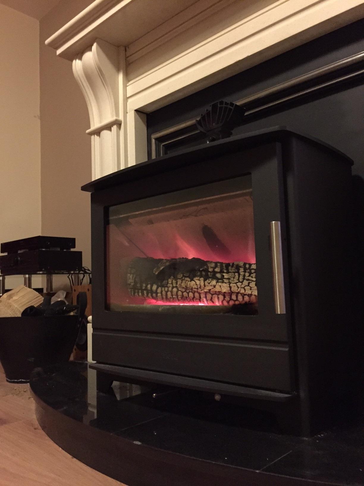 Heta Inspire 55 with half meter log burning