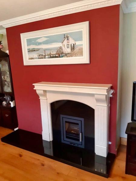 Heta Inspire & Roma fireplace with granite back