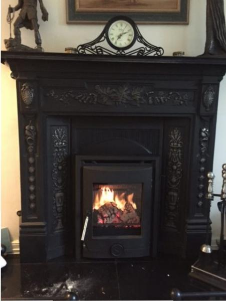 Portland 5kw in cast fireplace