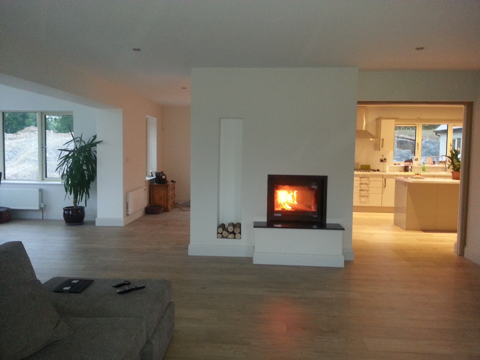 Dik Guerts B Side with custom made granite and hearth