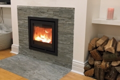 Dik Guerts 550 with tiled surround & hearth