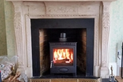 The Aarrow Ecoburn 7 in a traditional fireplace, magazine quality!