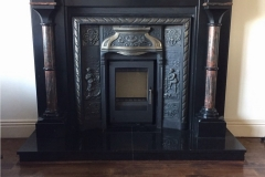 Aarrow i400 cassette, inserted into fireplace