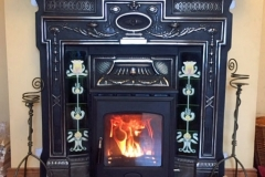 Henley Arklow 5kw in cast iron mantlepiece