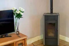 MCZ Dahlia grey panels Clear Glass Hearth