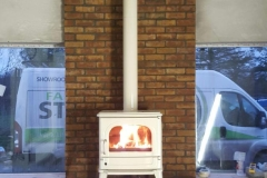 Dru 64 in ivory with matching flues