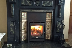 Inis Boffin 7kw insert in slate fireplace