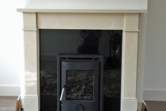 Portland stove and Naxos fireplace ready for lighting at Fitzbiggon Contractors' new houses in Clarecastle