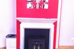 Stratford EB20 boiler with curved granite hearth