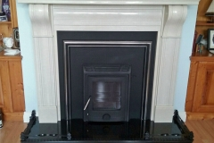 Tuscon isnet stove with Corbel in ivory cream