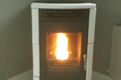 White Ceramic Milly pellet stove