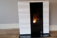 White Olga on granite hearth